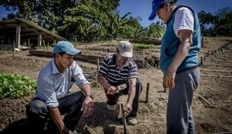 Irrigation infrastructure and agroecological training in Ecuador