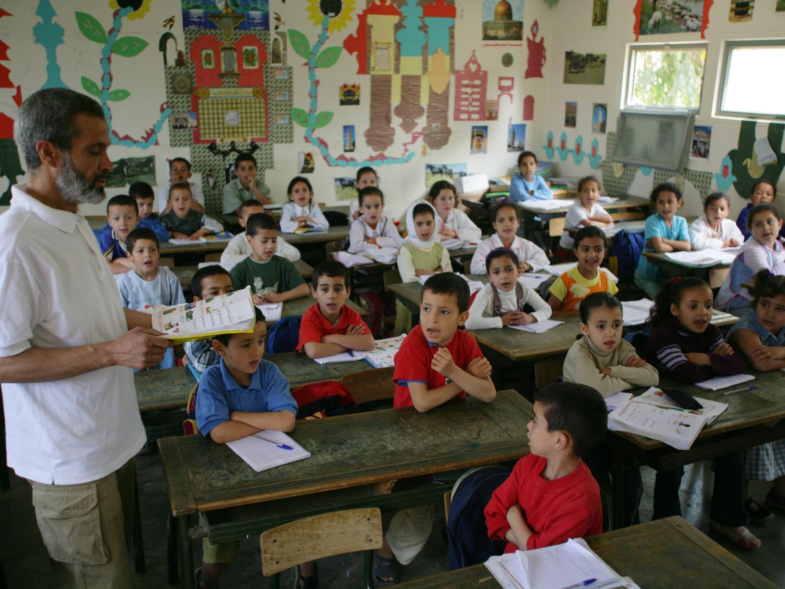 Agua saneamiento e higiene en las escuelas primarias de for Educacion exterior marruecos