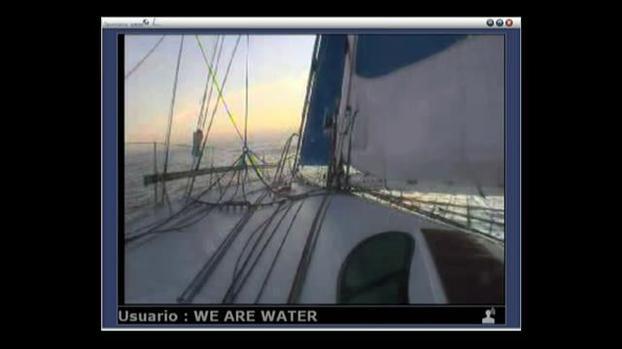 Navegando a la altura de Uruguay, en medio de un anticiclón