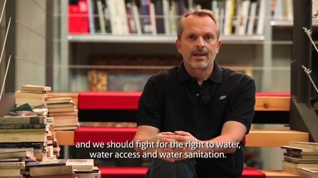 "Miguel Bosé:""The water access is a right, but very few people have it."""