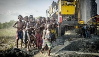 Construcción de pozos en Zabzugu, Ghana