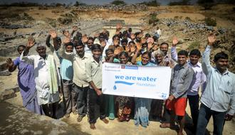 Construction of water infrastructures for collecting and using water in India