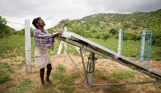 Installation of new solar-powered irrigation systems in Andhra Pradesh, India