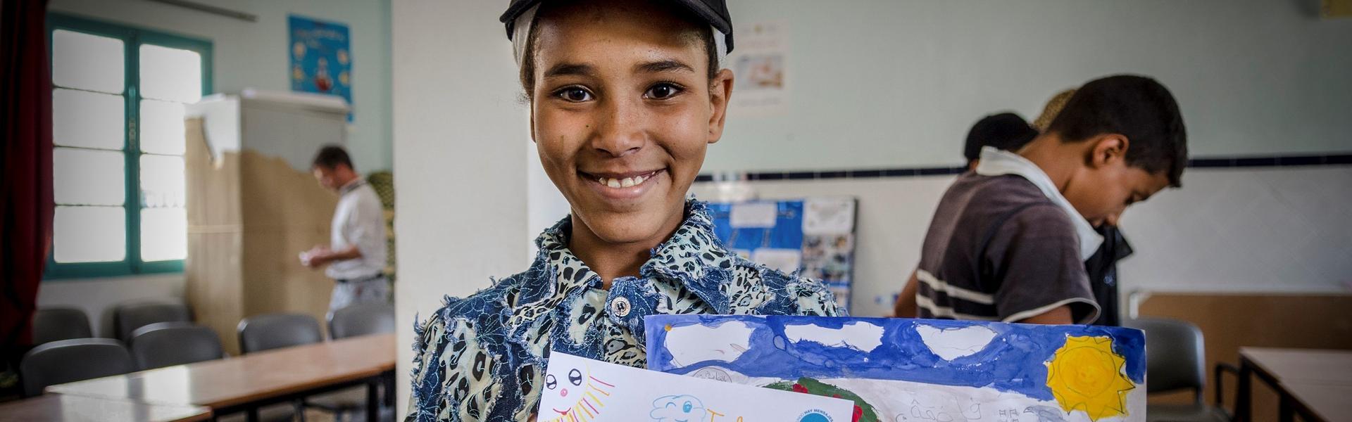 estudiantes de una escuela marroquí