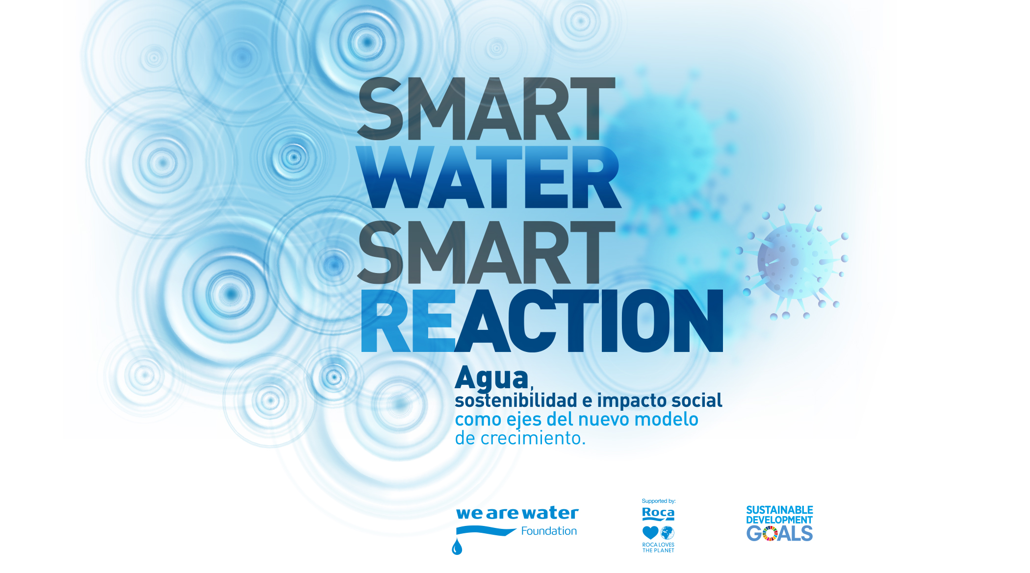 smart water, smart reaction logos