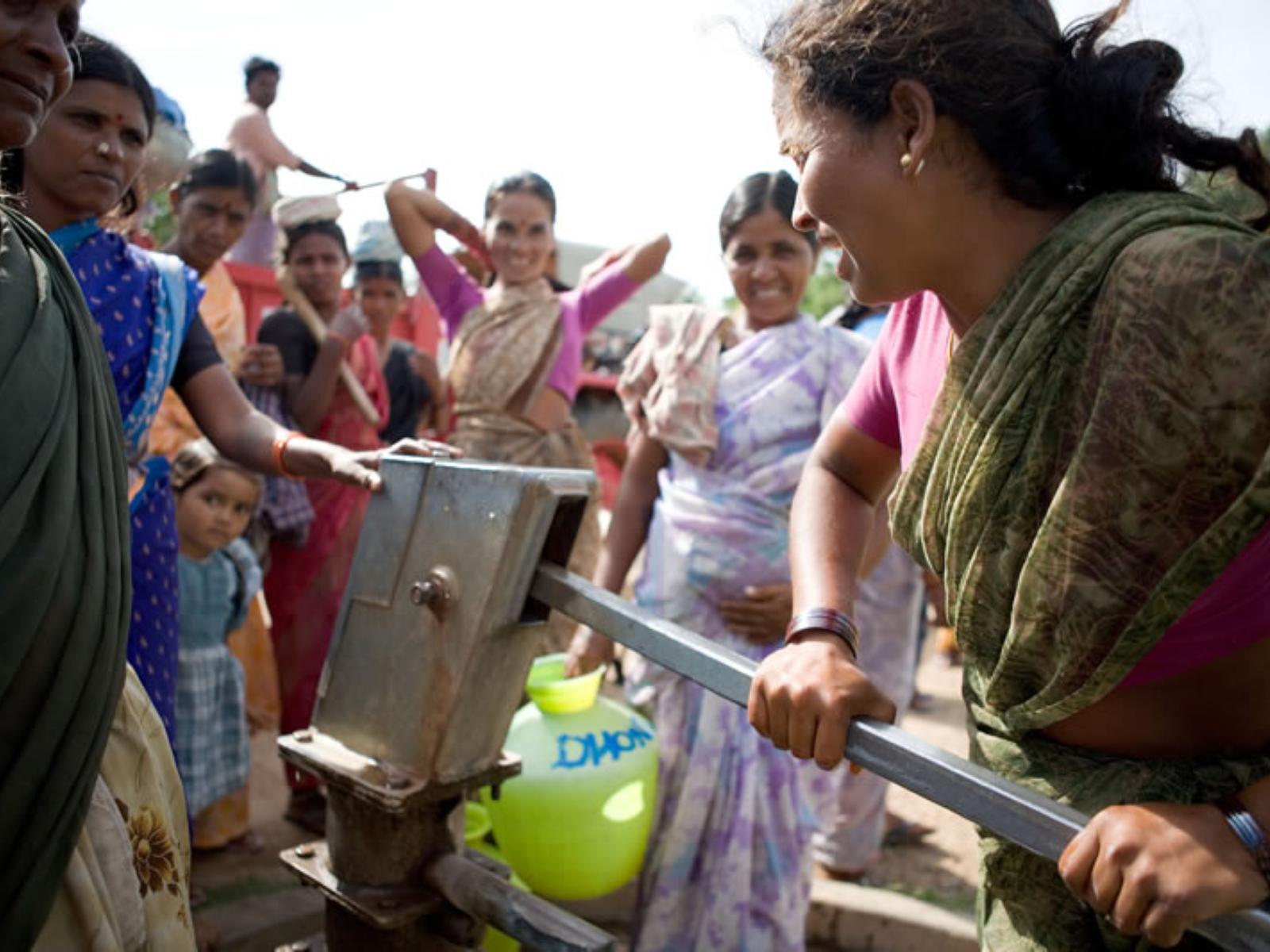 irrigation system woman