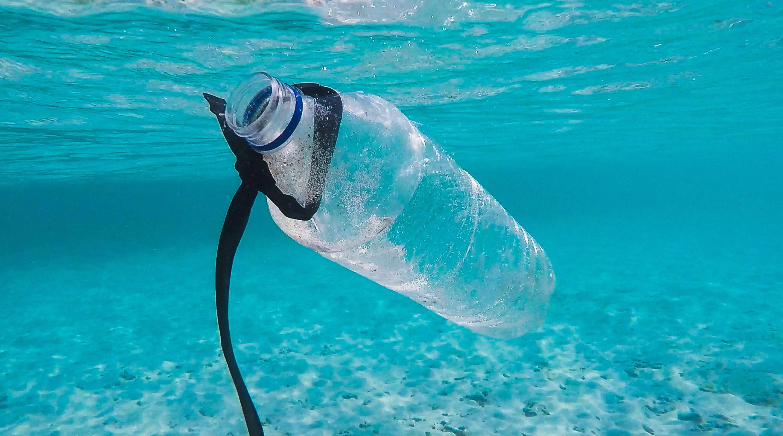 water bottle ocean