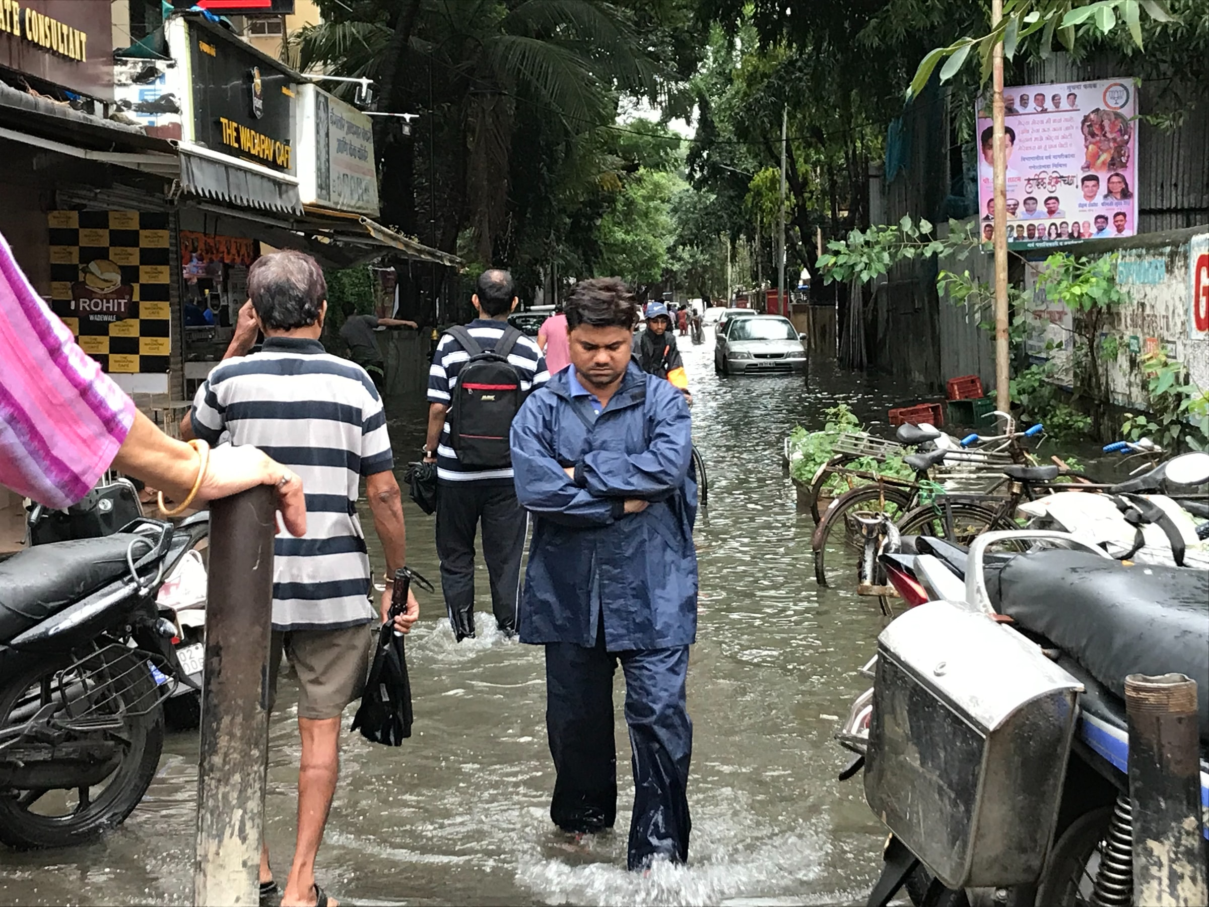 floods in an asiatic city