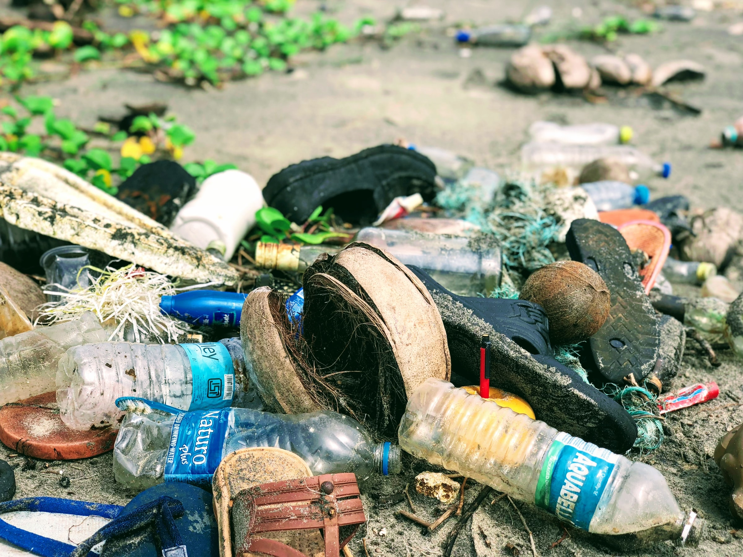 rubbish, plastics