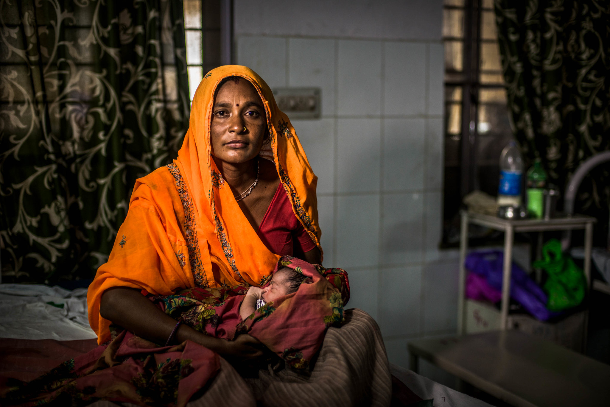 woman with her new born india