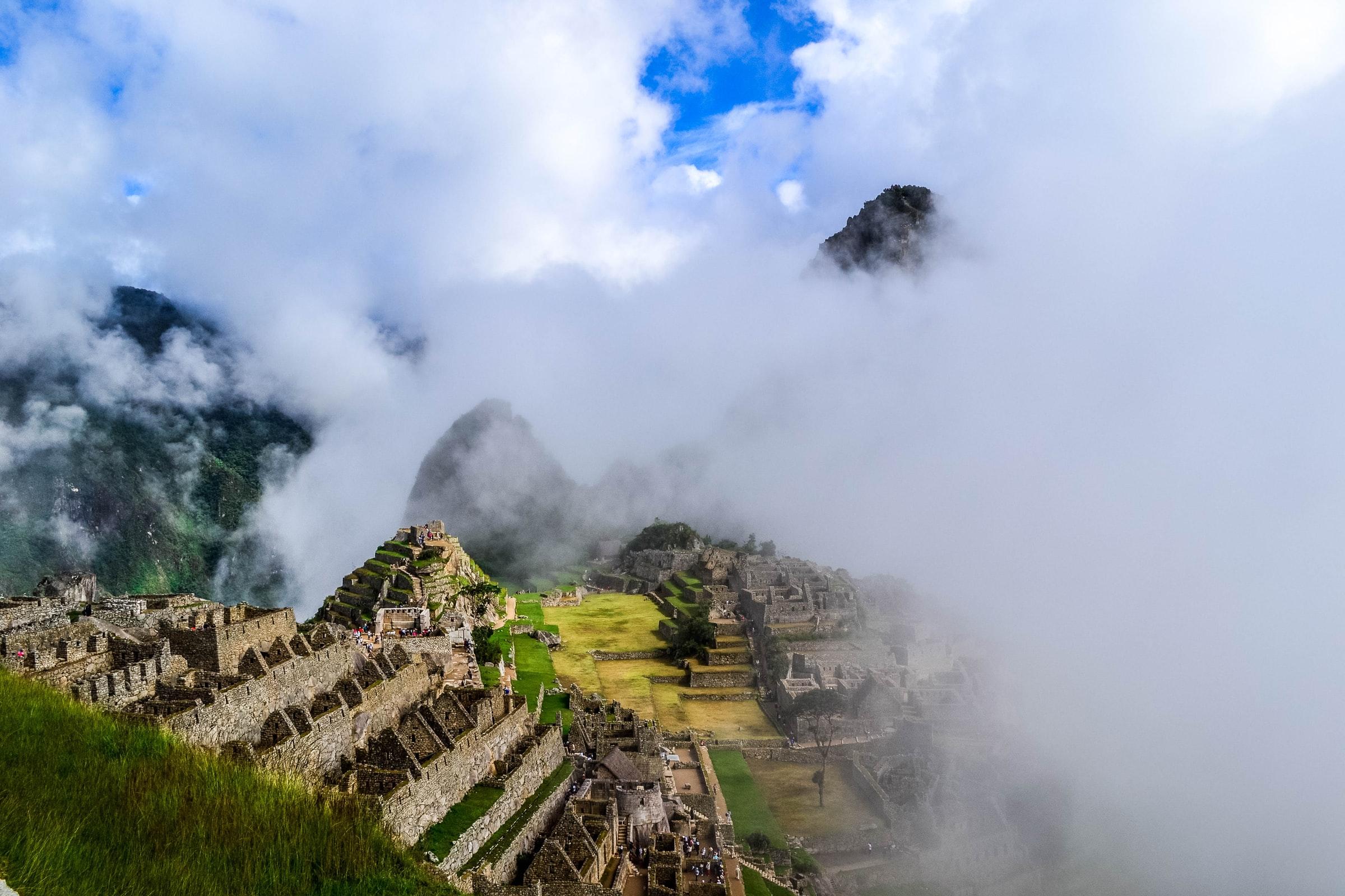 Machu Pichu foggy
