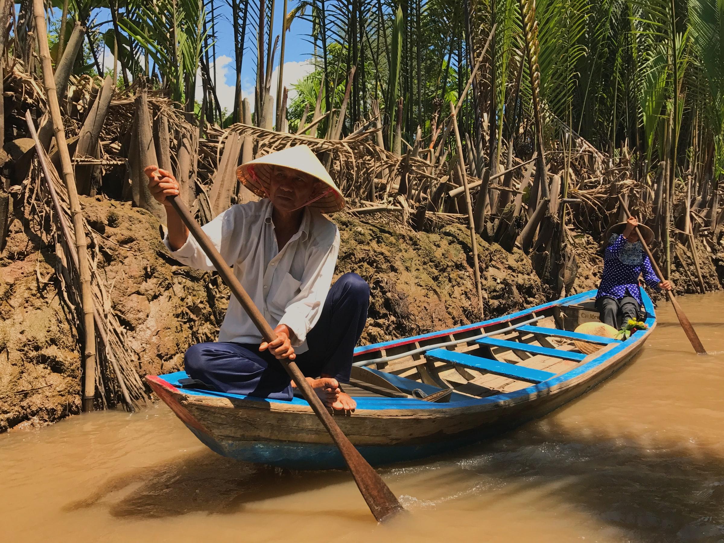 mekong river boat vietnam