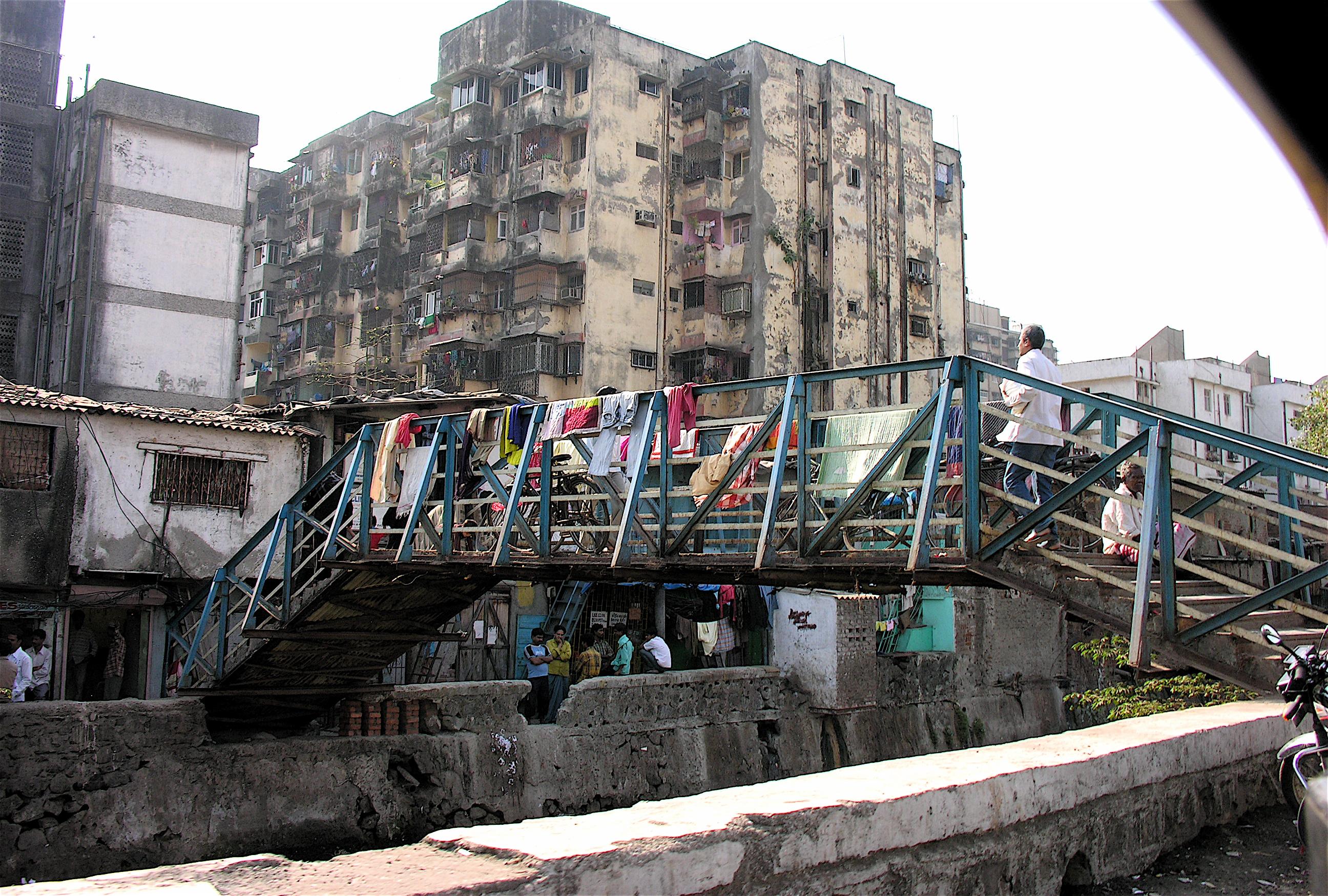 entrance to the largest slum in Mumbai