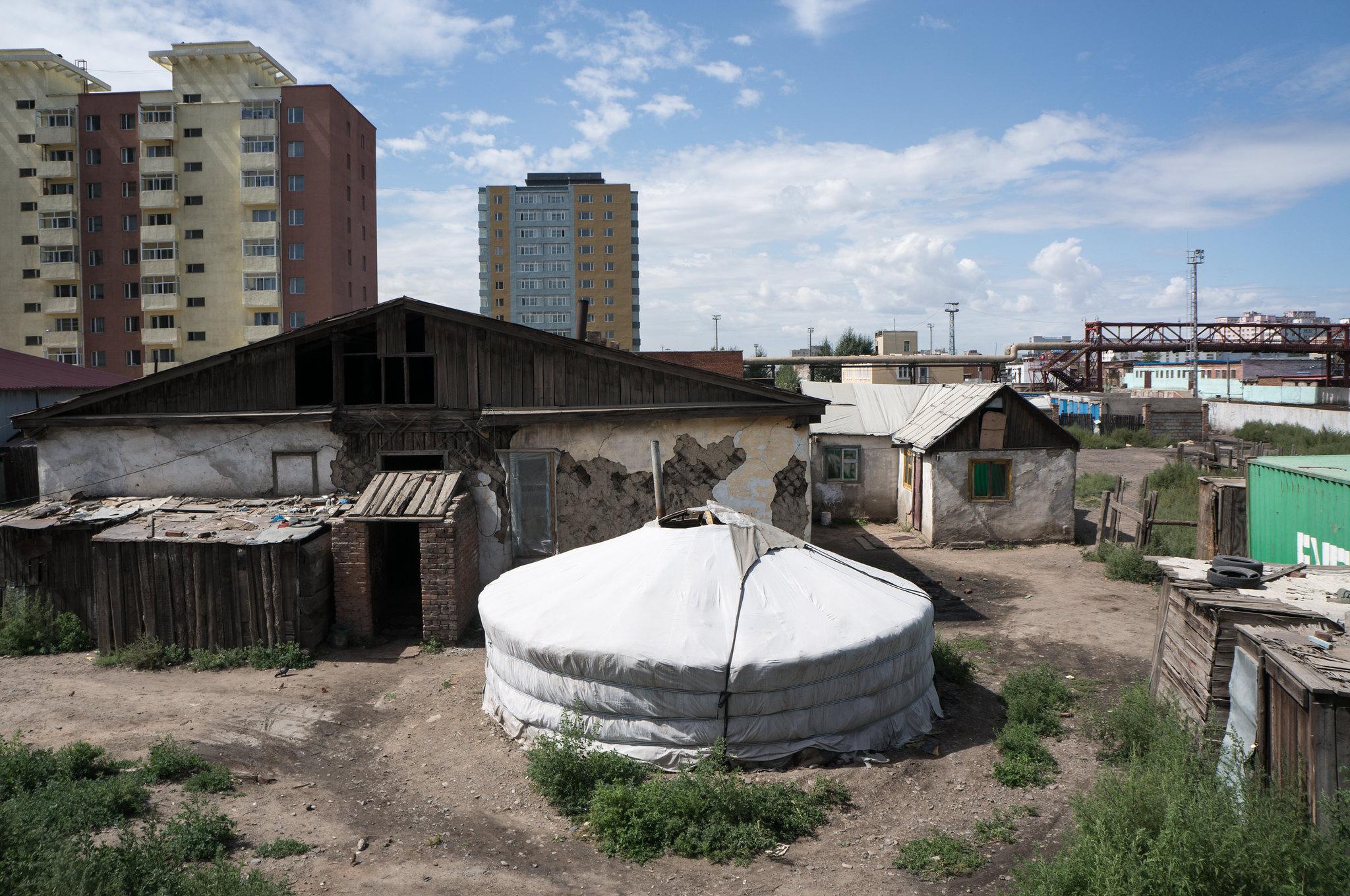 Asentamiento en la periferia de la ciudad Mongolia