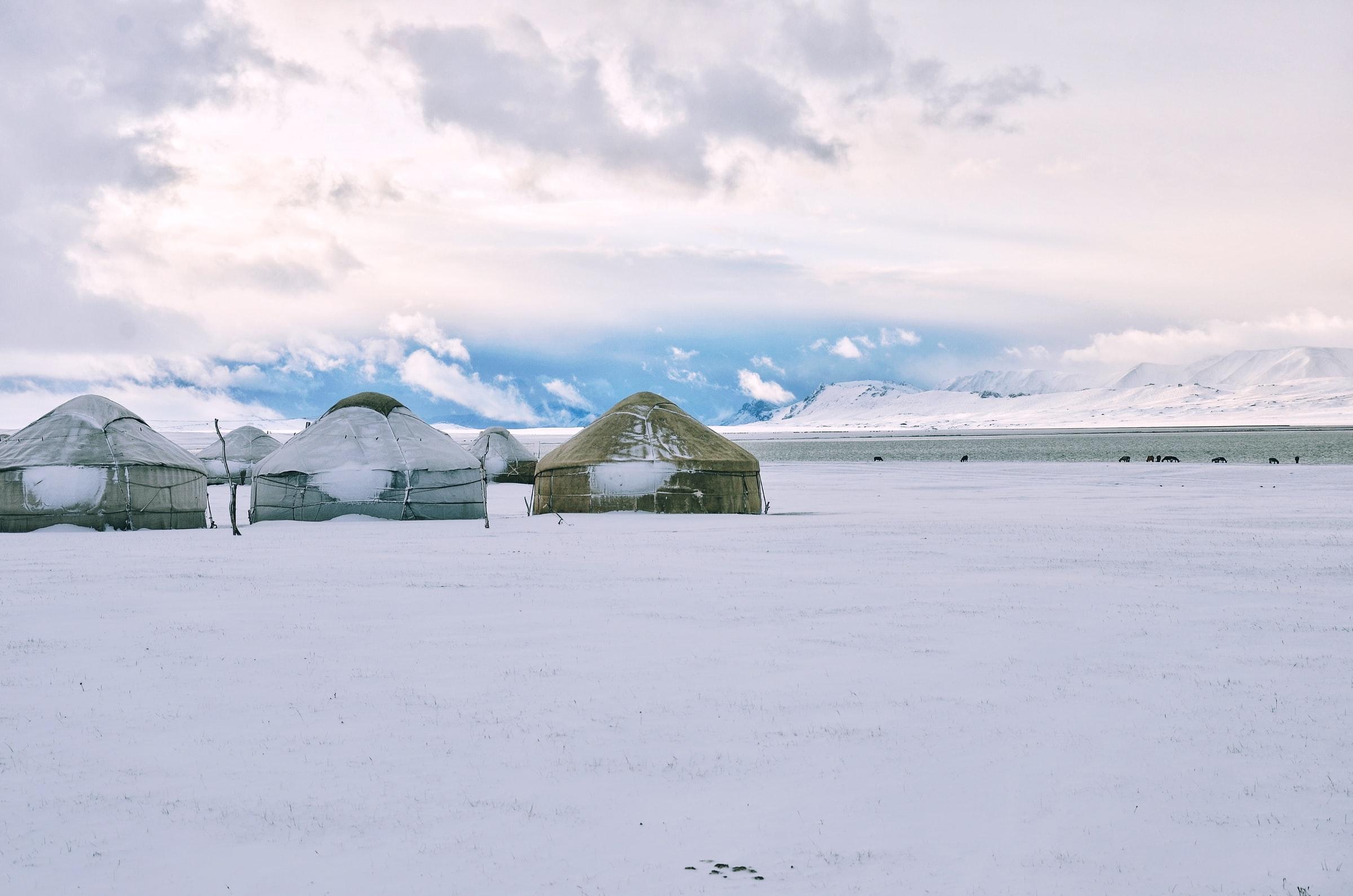 Ciudad blanca en Mongolia