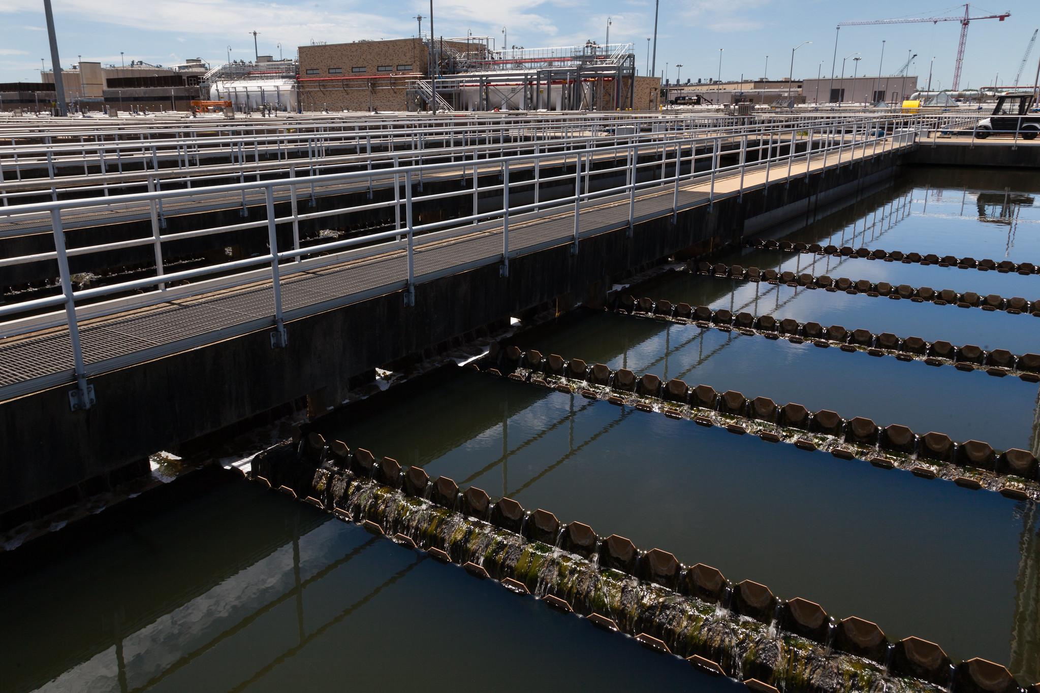 Planta de tratamiento de aguas residuales Blue Plains en Washington, D.C