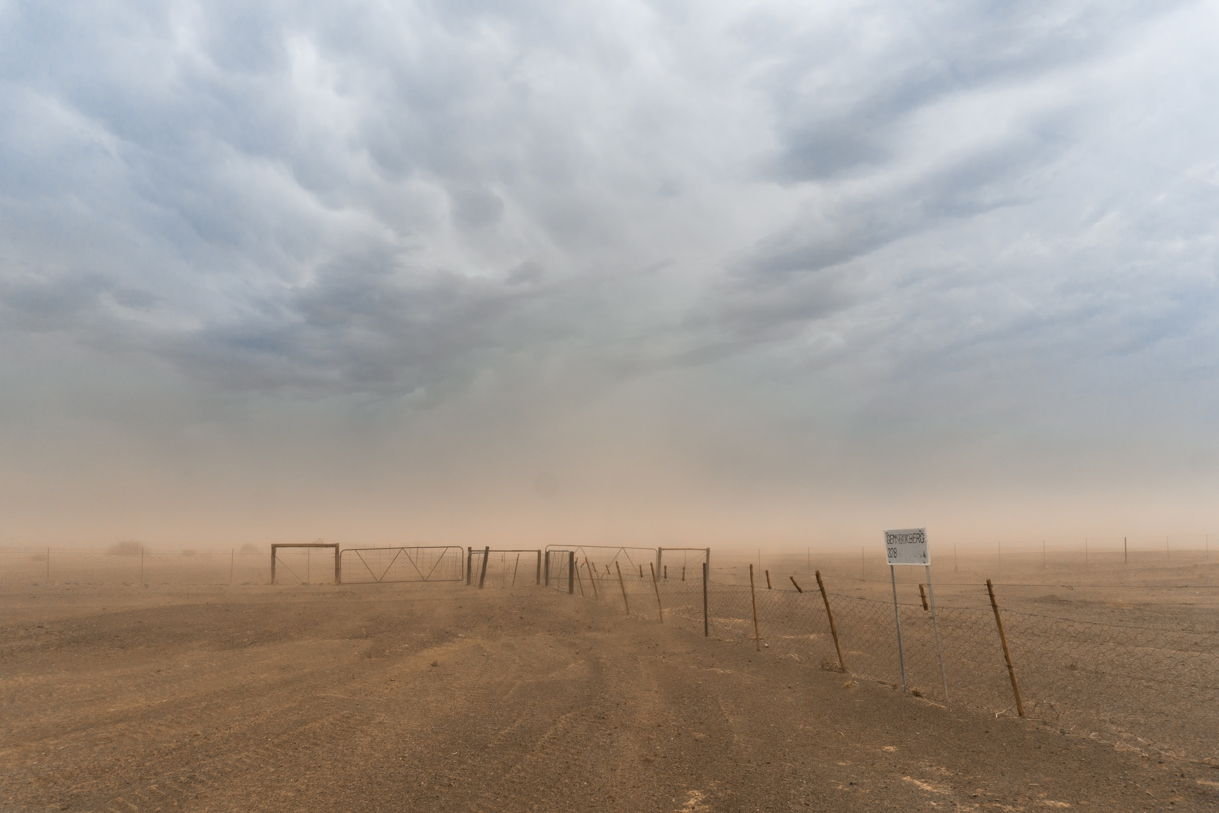 sand storm in namibia