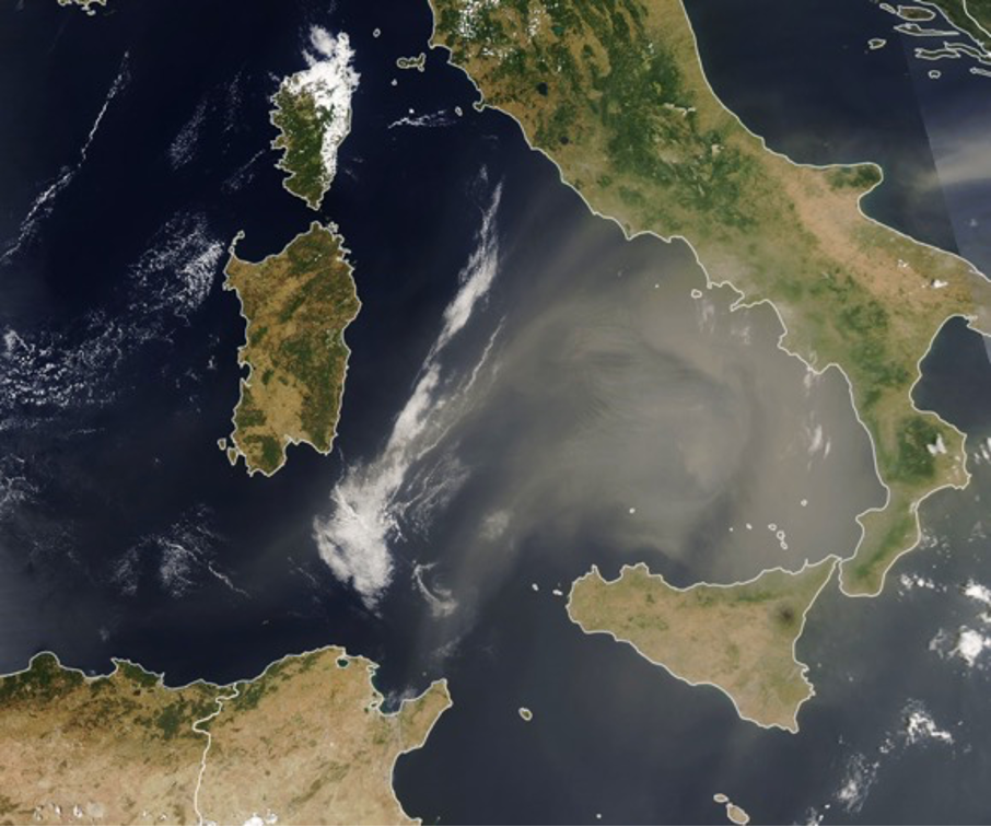 nasa map dust