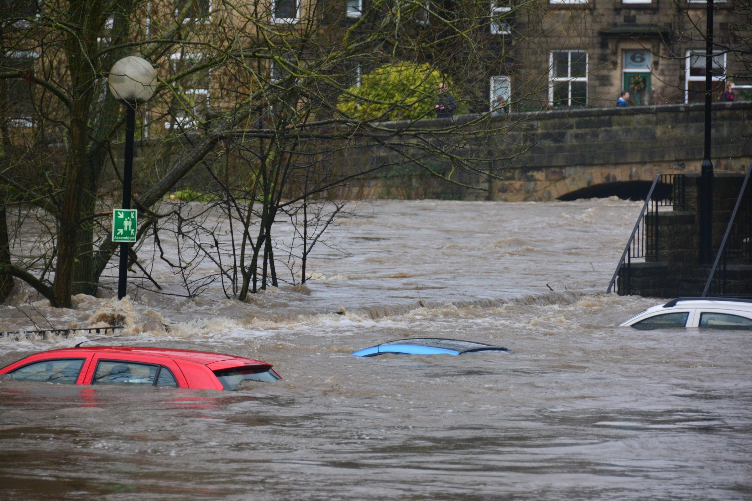 inundaciones en una ciudad