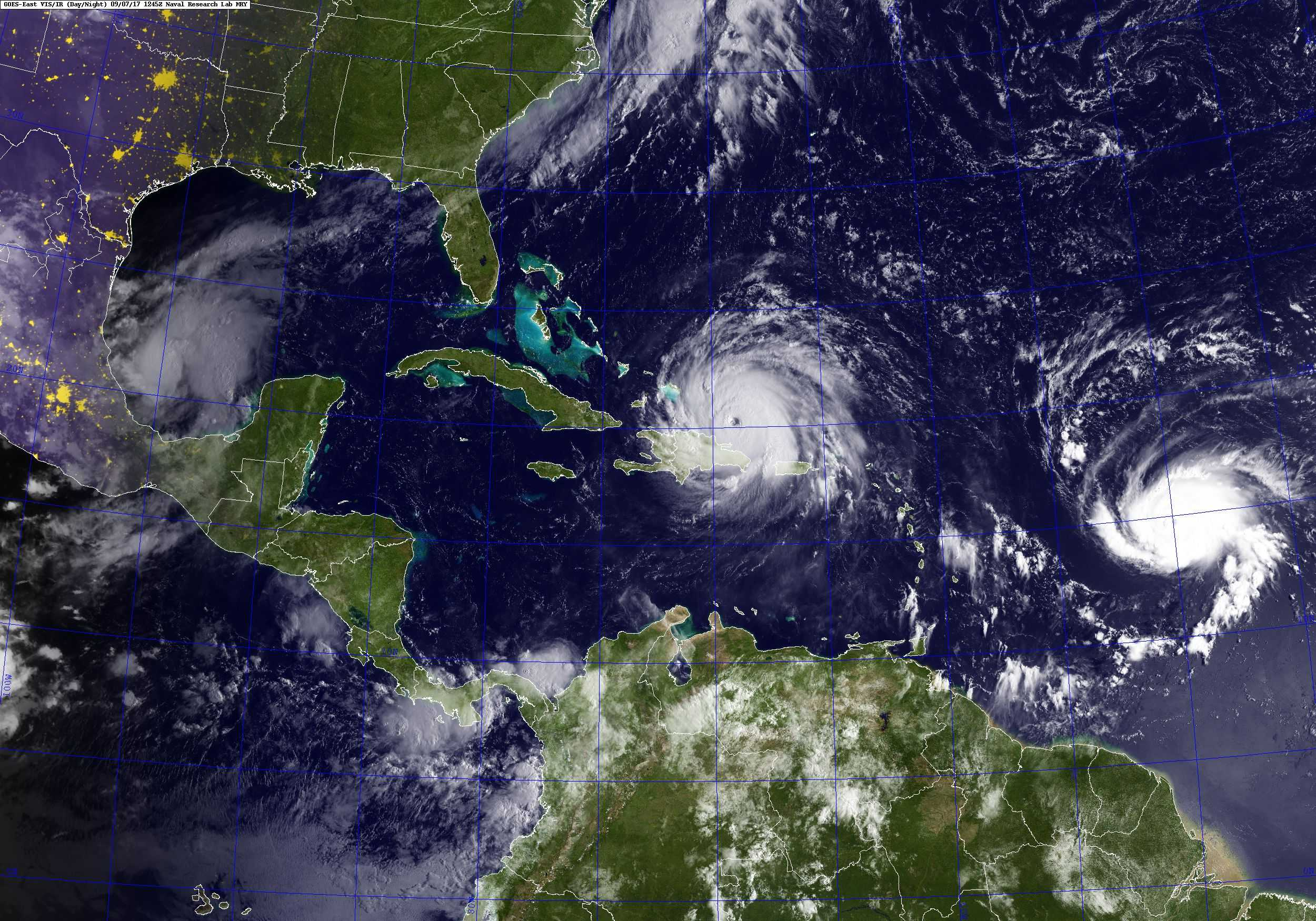 mapa huracán