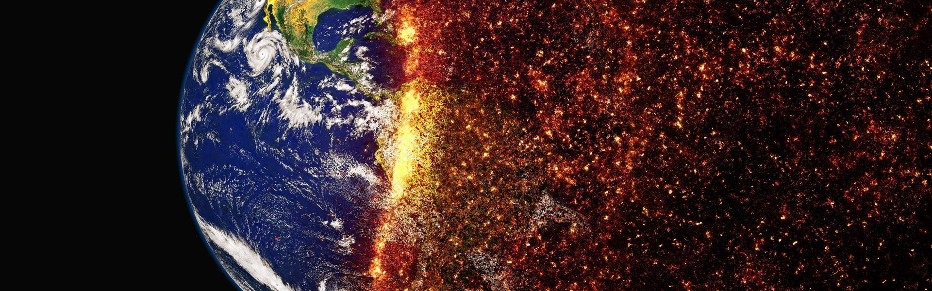 climate change globe